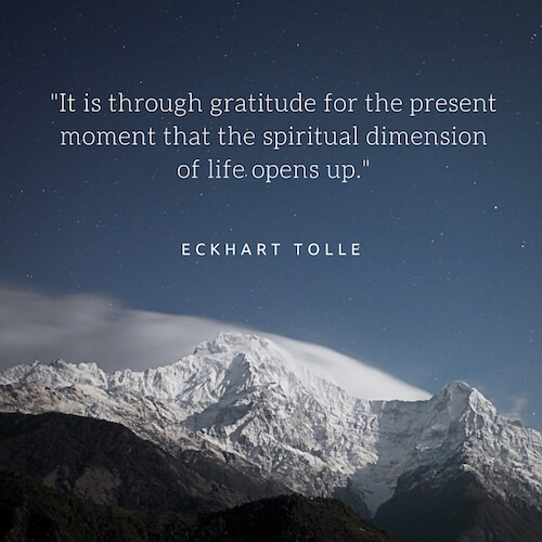 Gratitude for the present